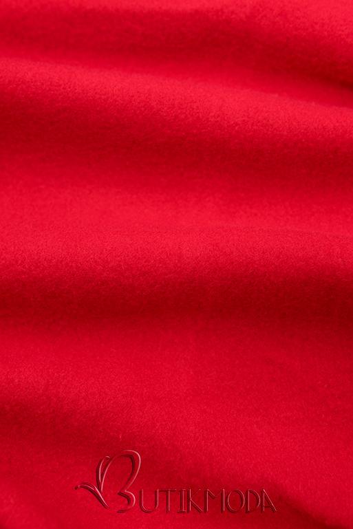 Verlängerte Kapuzenjacke rot