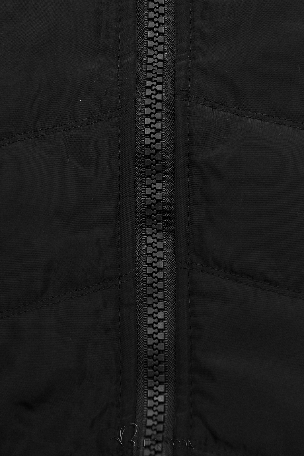 Hybrid Sweatjacke in langer Form schwarz