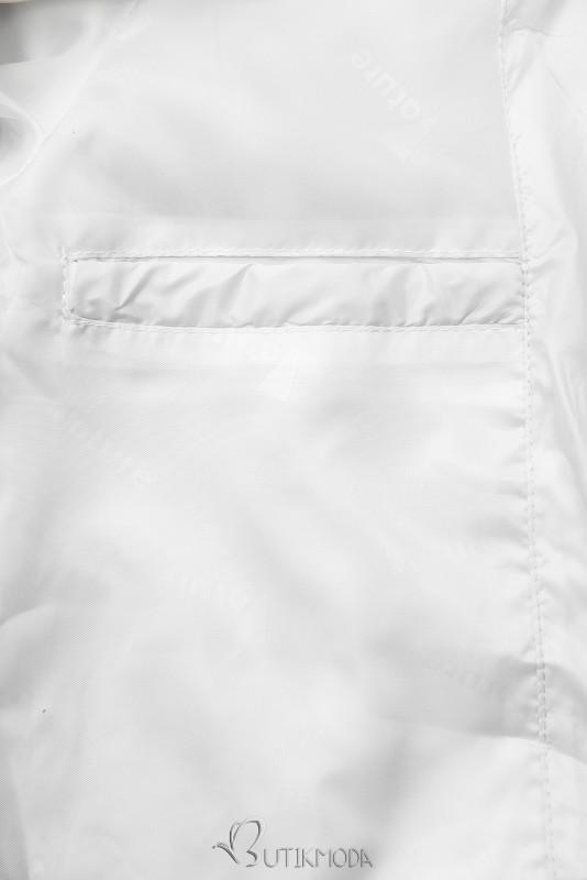 Leichte Übergangsjacke mit Kapuze weiß