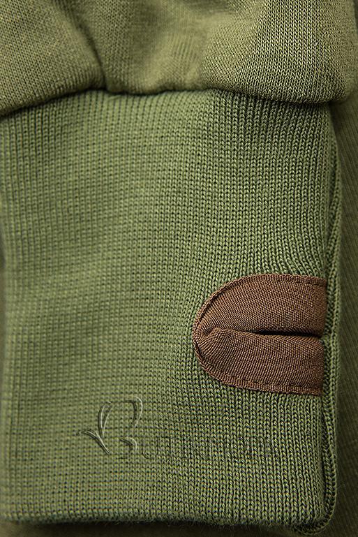 Verlängerte Kapuzenjacke von LHD grün