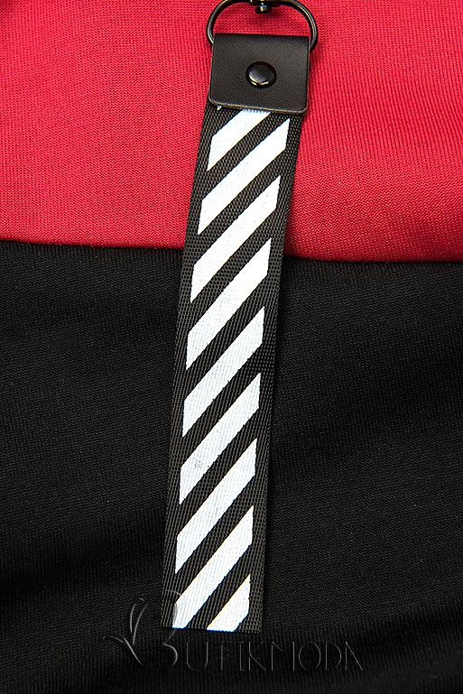 Freizeitanzug mit Kapuze rot/schwarz