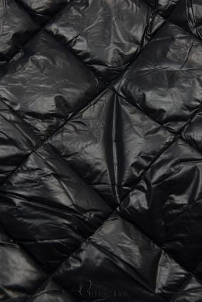 Jacke mit Gürtel und Fleecefutter schwarz/beige