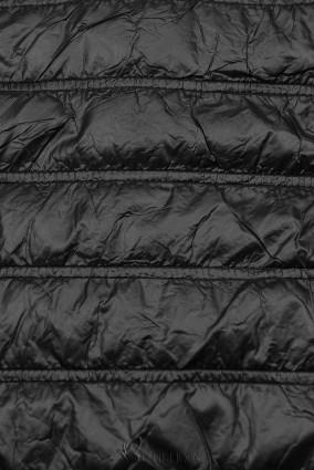 Leichte Übergangsjacke mit Kapuze schwarz