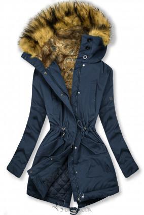 Jacke mit hochabschließendem Kragen dunkelblau