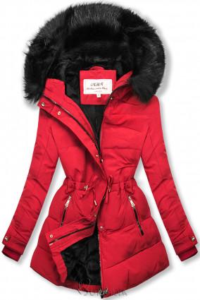 Winterjacke rot/schwarz